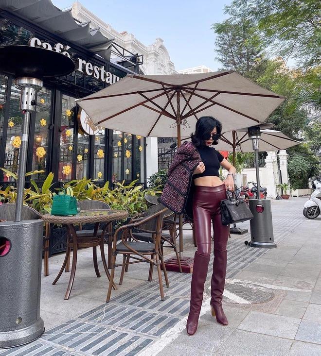 Lệ Quyên đam mê bất diệt với quần legging, mặc 24/7 bất kể nắng mưa-4