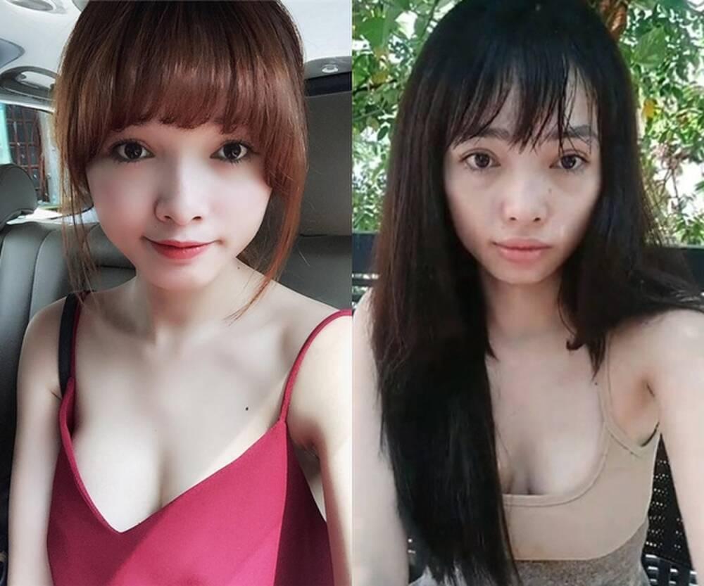 Sao Việt hiện nguyên hình khi để mặt mộc livestream-16