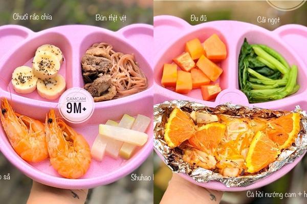 Mẹ 9x khoe thực đơn ăn dặm cho bé 9 tháng tuổi, đảm bảo đầy đủ chất dinh dưỡng-8