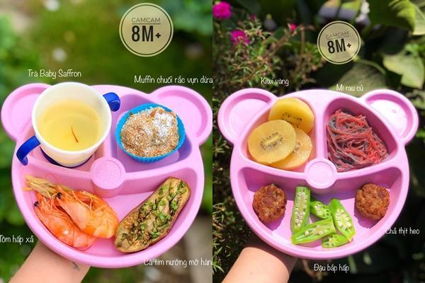 Mẹ 9x khoe thực đơn ăn dặm cho bé 9 tháng tuổi, đảm bảo đầy đủ chất dinh dưỡng-9