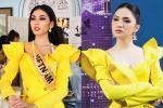 Thi Miss Grand, Ngọc Thảo gây tranh cãi khi liên tục 'mặc lại đồ' Hương Giang