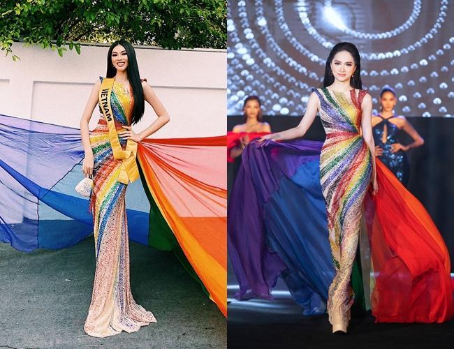 Thi Miss Grand, Ngọc Thảo gây tranh cãi khi liên tục mặc lại đồ Hương Giang-3