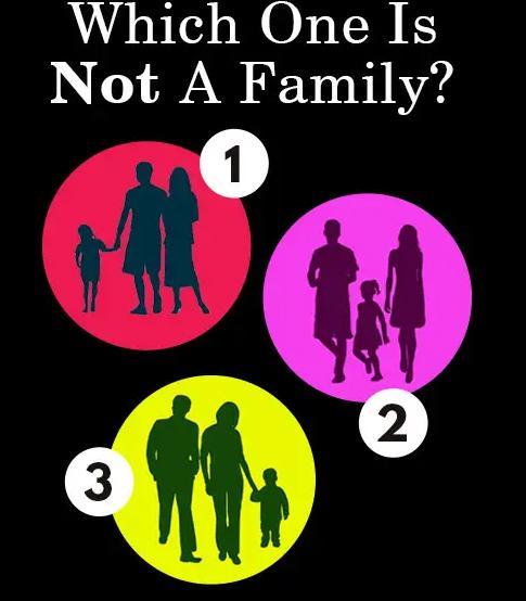 Theo bạn, bức tranh nào không phải là một gia đình?-1