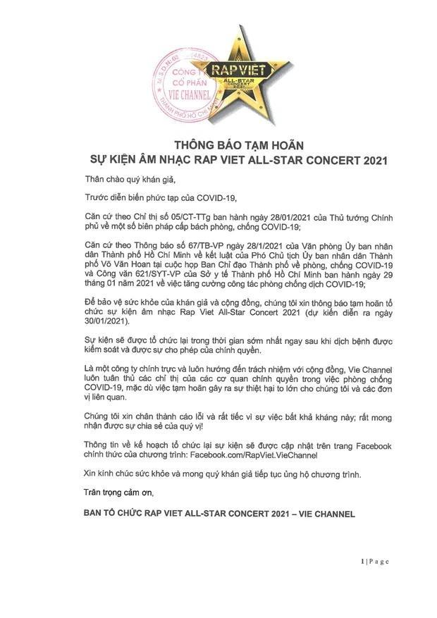Rap Việt All-Star Concert công bố lịch diễn, fan tranh nhau pass vé vì quá mệt mỏi-1