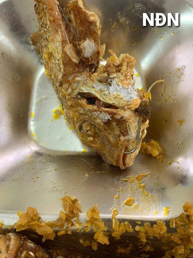 Ăn cơm trưa, hàng loạt công nhân thất kinh vì vật thể lạ sắc nhọn ở đĩa cá rán-2