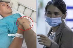 Bà xã Hùng Dũng bị tai nạn trước 1 tuần chồng gặp chấn thương