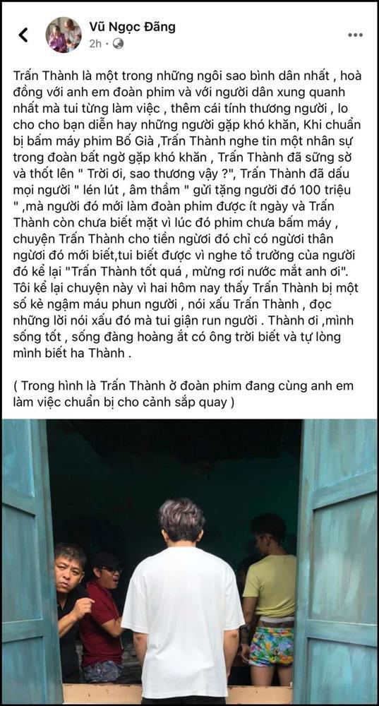 Vũ Ngọc Đãng bênh Trấn Thành bằng câu chuyện 100 triệu lén lút-2