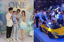 Con gái Minh Nhựa tổ chức tiệc sinh nhật 1 tuổi siêu to cho quý tử