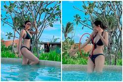 Diện bikini, Á hậu Thúy Vân bị soi photoshop 'hack' eo thon
