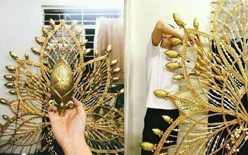 Toát mồ hôi Quốc phục khổng lồ của người đẹp Việt đi thi quốc tế-13