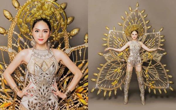 Toát mồ hôi Quốc phục khổng lồ của người đẹp Việt đi thi quốc tế-14