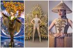 'Toát mồ hôi' Quốc phục khổng lồ của người đẹp Việt đi thi quốc tế