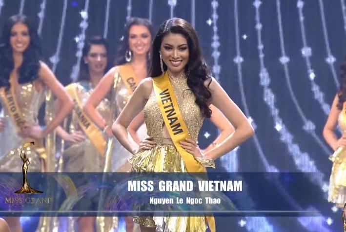 Ngọc Thảo xin lỗi vì phần thi 8.75 chung kết Miss Grand-2