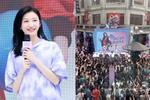 Đám đông vây kín ngắm 'đệ nhất mỹ nữ Bắc Kinh' Cảnh Điềm