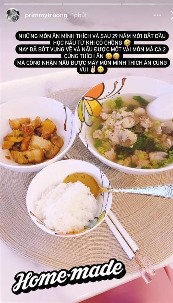 Primmy Trương tiết lộ 29 năm mới bắt đầu học nấu ăn-2