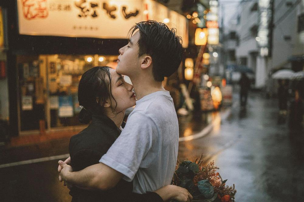 Cặp du học sinh Việt tại Tokyo chớp bộ ảnh cưới tuyệt đẹp dưới cơn mưa-8