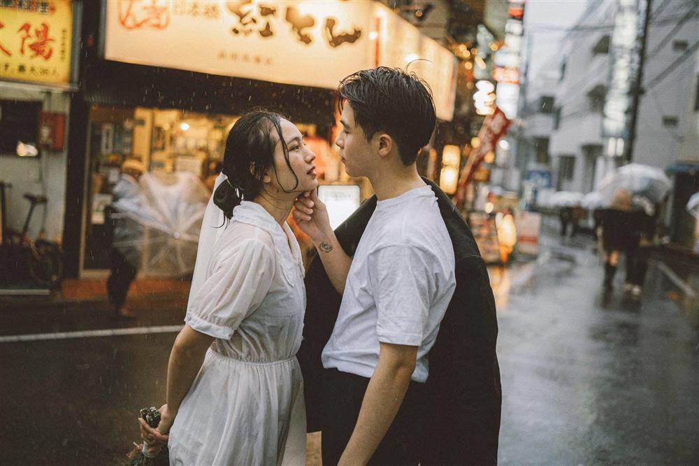 Cặp du học sinh Việt tại Tokyo chớp bộ ảnh cưới tuyệt đẹp dưới cơn mưa-11