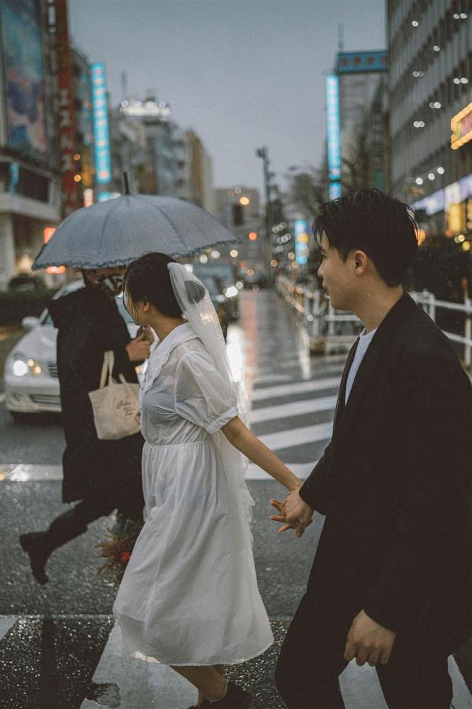 Cặp du học sinh Việt tại Tokyo chớp bộ ảnh cưới tuyệt đẹp dưới cơn mưa-15