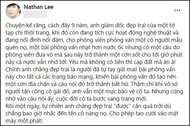 Nathan Lee chỉ đích danh Ngọc Trinh: Tao cười vào mặt mày-6