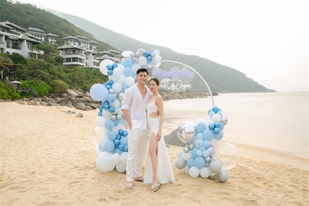 Sinh nhật Lệ Quyên trên bãi biển: Lâm Bảo Châu chiếm spotlight-4