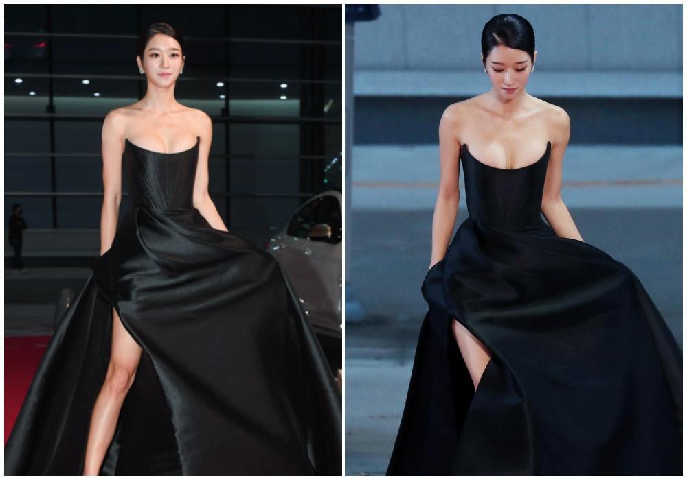 Cùng mặc váy 100 triệu, Thu Thủy xấu hơn hẳn vì bụng bé bự-6