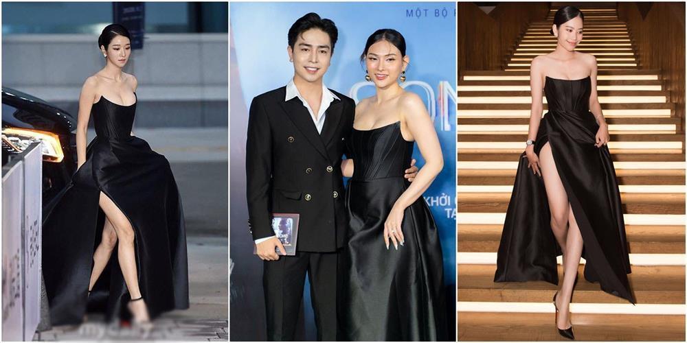 Cùng mặc váy 100 triệu, Thu Thủy xấu hơn hẳn vì bụng bé bự-8
