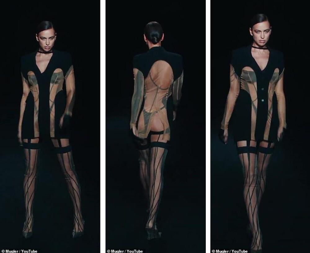 Siêu mẫu Bella Hadid để ngực trần trụi khi trình diễn show thời trang-5