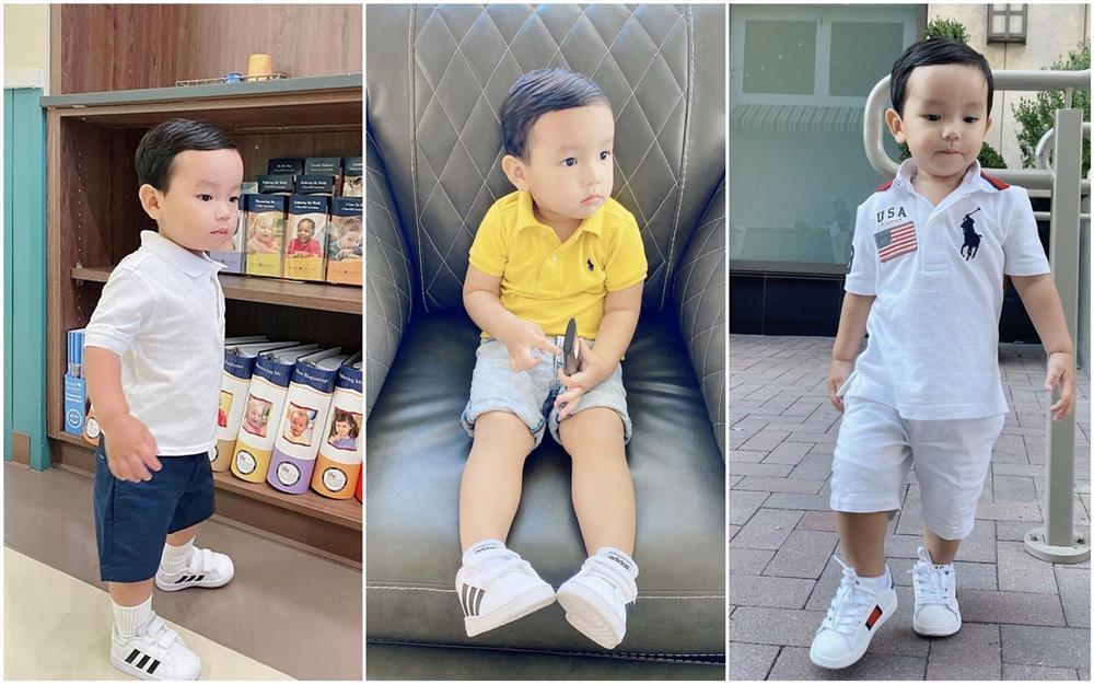 Con trai Phạm Hương được mẹ đầu tư như một fashionista nhí-9