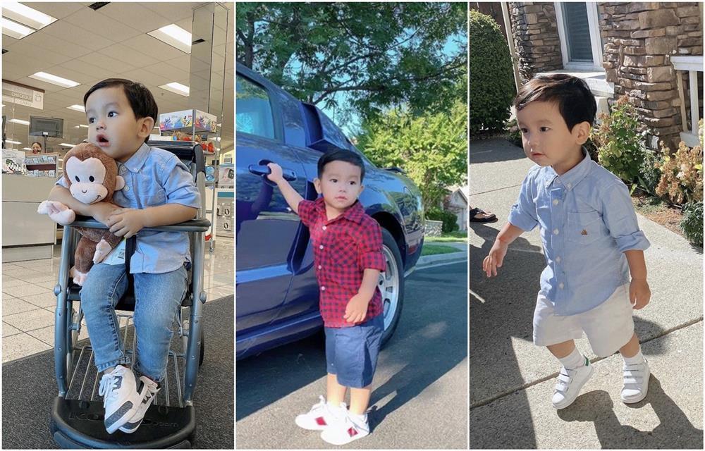 Con trai Phạm Hương được mẹ đầu tư như một fashionista nhí-8