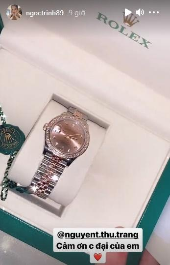 Ngọc Trinh được người chị hào phóng tặng chiếc Rolex đeo cho vui-4
