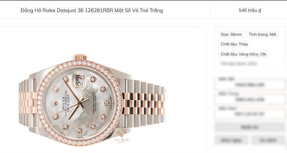 Ngọc Trinh được người chị hào phóng tặng chiếc Rolex đeo cho vui-5