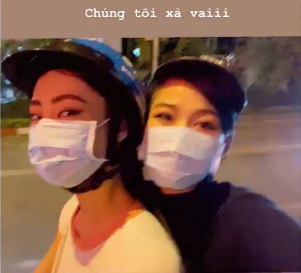 Đỗ Thị Hà - Lương Thùy Linh xả vai hoa hậu, lê la ăn vỉa hè-2