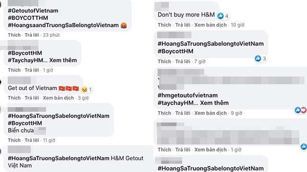 Người Việt treo hashtag #HoangSaTruongSabelongtoVietnam phản đối H&M-1