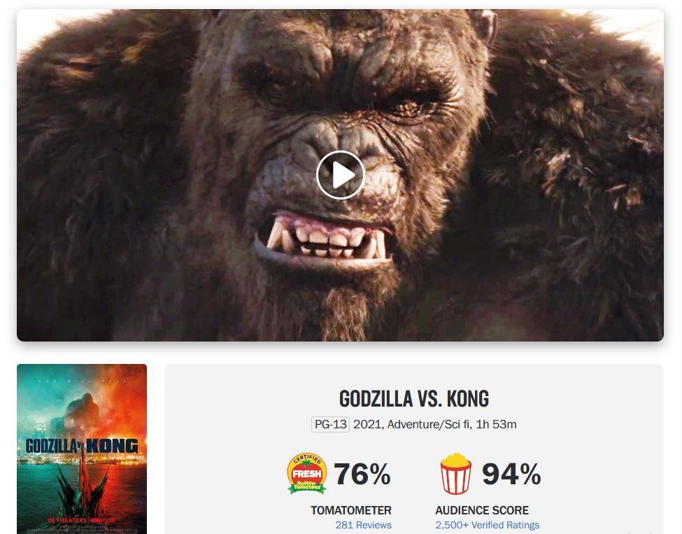 Thua Bố Già tốc độ bán vé, Godzilla vs.Kong vẫn thu 100 tỷ sau 10 ngày-1