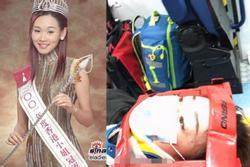 Hoa hậu Dương Tư Kỳ và 2 con gặp tai nạn ô tô