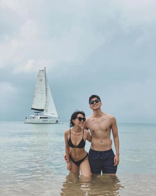 Blogger Hà Trúc khoe body nóng rực bên bạn trai cơ trưởng-3