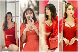 Set váy 'thần thánh' 4 người đẹp mê mệt nhờ tôn vòng 1 triệt để