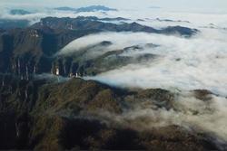 Biển mây tạo cảnh tựa thiên đường ở Trương Gia Giới