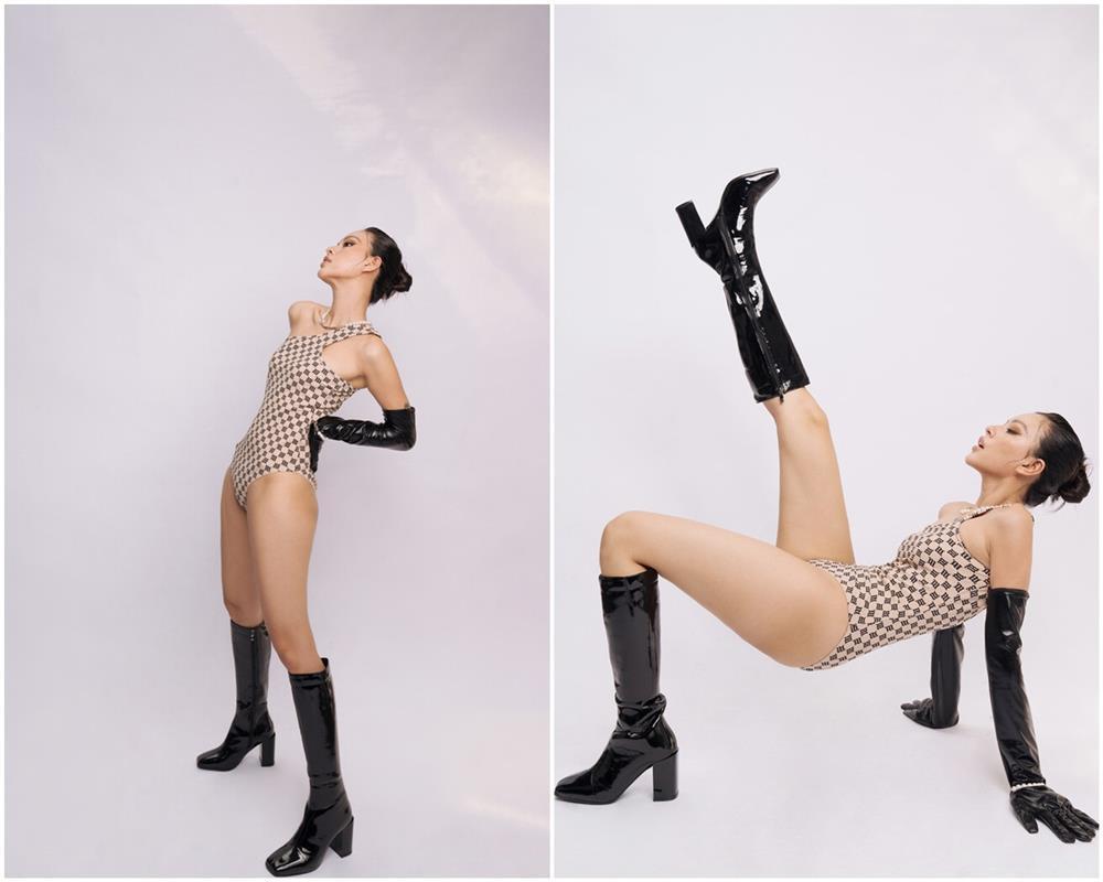 Tiểu Vy, Bảo Anh mặc bikini xỏ boots trên hè dưới đông-9