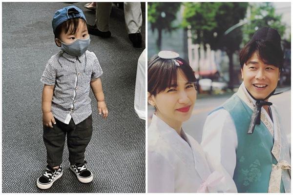 Chỉ lộ mỗi đôi mắt, con trai Hòa Minzy giống bố như đúc-2