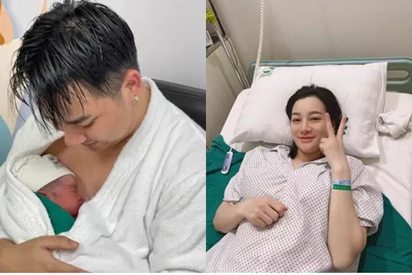 Con trai 2 tháng tuổi của Hữu Công gây bão với biểu cảm cưng muốn xỉu-2