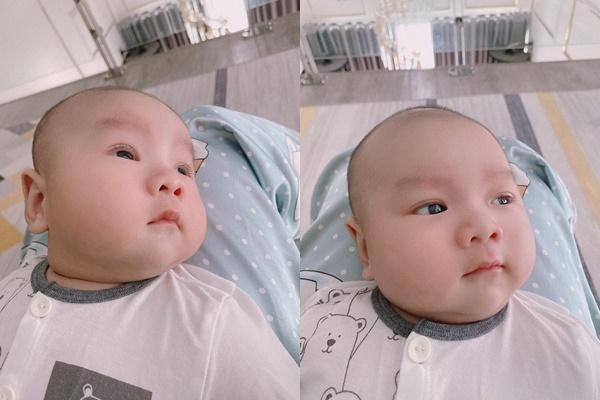 Con trai 2 tháng tuổi của Hữu Công gây bão với biểu cảm cưng muốn xỉu-14