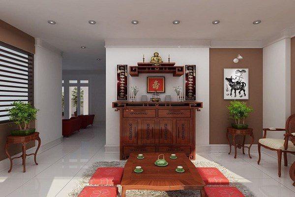 Đặt bàn thờ trong phòng khách nhớ tránh phạm 3 điều sau để được Thần Phật che chở-1