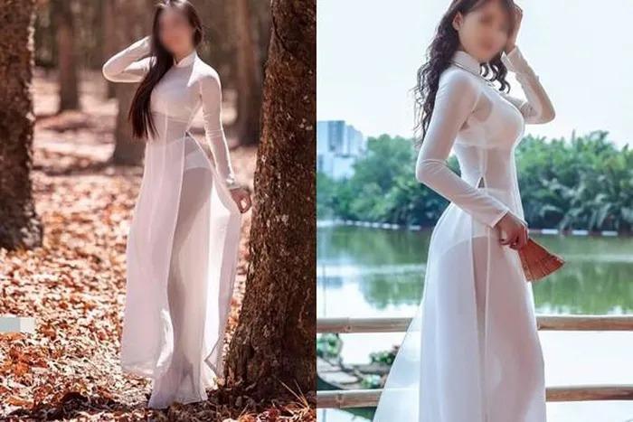 Những lần nữ sinh Việt gây sốc vì cách diện áo dài phản cảm-2