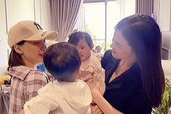 Con trai Hòa Minzy gặp ái nữ nhà Đông Nhi