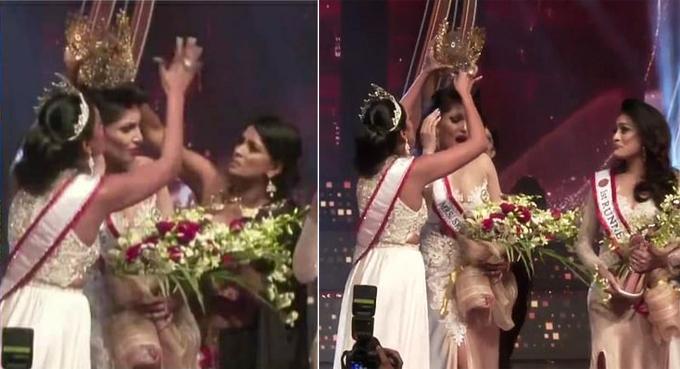 Người giật vương miện Hoa hậu Quý bà Sri Lanka bị bắt-2