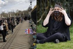 Nước Anh u buồn trước sự ra đi của Hoàng thân Philip và lo lắng cho tình hình Nữ hoàng