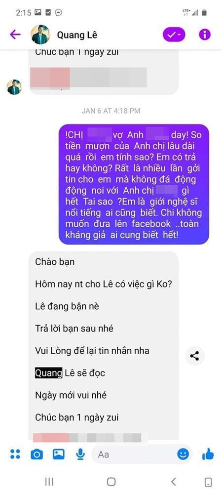 Bị tố quỵt hơn 100 triệu đồng, ca sĩ Quang Lê nói gì?-2