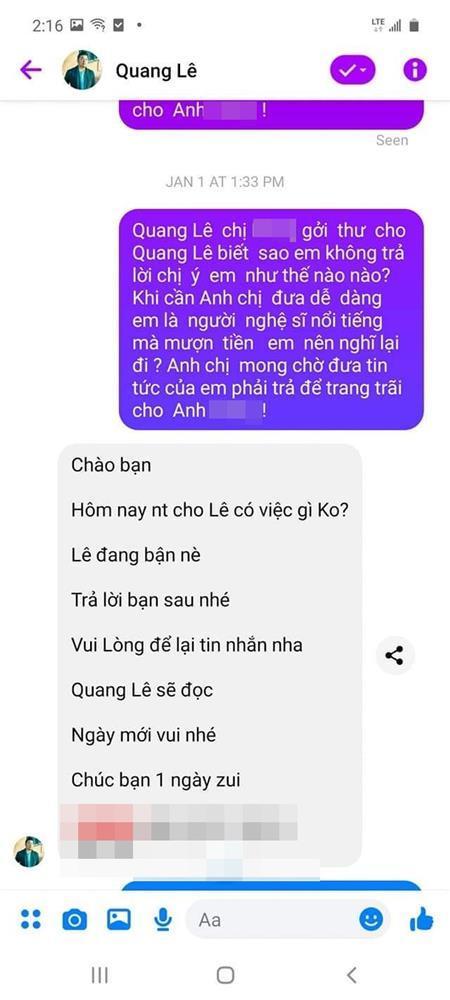 Bị tố quỵt hơn 100 triệu đồng, ca sĩ Quang Lê nói gì?-3