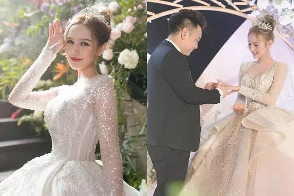 Cô dâu mặc váy 28 tỷ khoe được thưởng 1 khách sạn nếu sinh quý tử-1